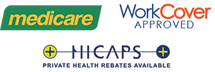 ChiroCure Chiropractic Clinic Medicare TAC work cover & hicaps rebate, refunds & Claiming